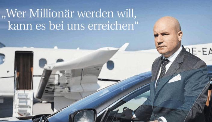 """Florian Koschat - """"Wer Millionär werden will, kann es bei uns erreichen!"""""""